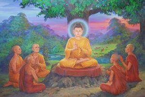 будда, ученики, свет для самих себя